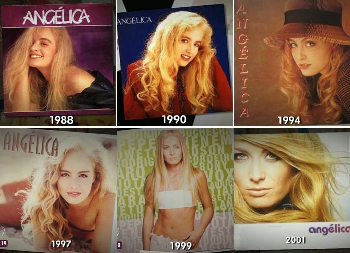 Confira algumas capas de disco da Angélica (Foto: TV Globo)