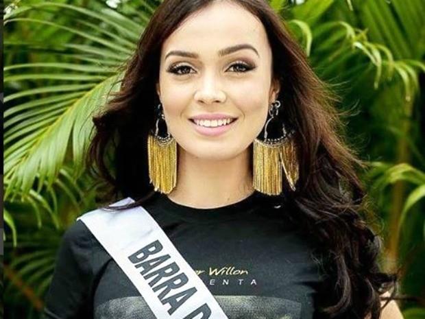 Miss Barra do Garças, Jacqueline Rodrigues Ecke, de 25 anos, tem 1,65m de altura e pesa 58 kg (Foto: Divulgação)