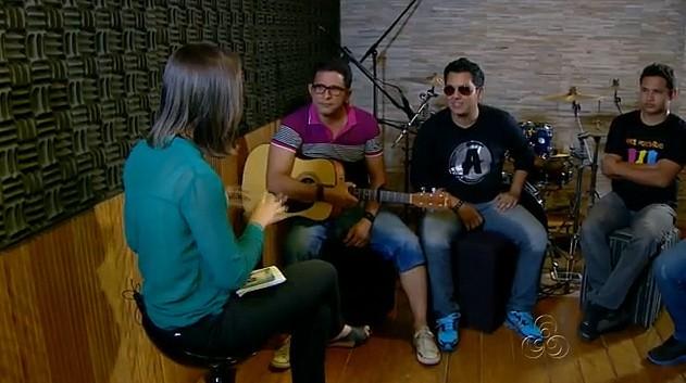 O vocalista Felipe Neto da banda Atrium diz que o grupo está se preparando muito para o festival (Foto: Amazônia em Revista)