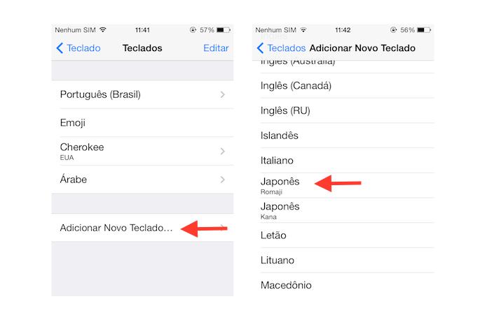 Adicionando um novo idioma de teclado ao iOS (Foto: Reprodução/Marvin Costa)