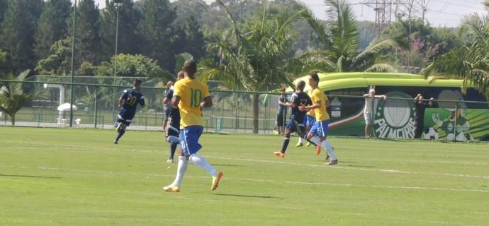 Ademílson - Seleção brasileira sub-21 x Palmeiras - jogo-treino Mogi das Cruzes (Foto: Petterson Rodrigues)