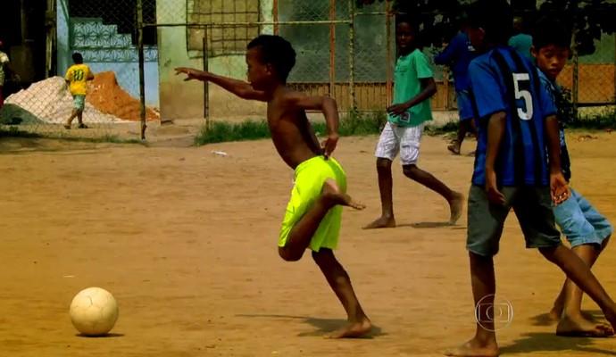 Esporte Espetacular mostra como surgem os novos jogadores (Foto: Reprodução TV Globo)