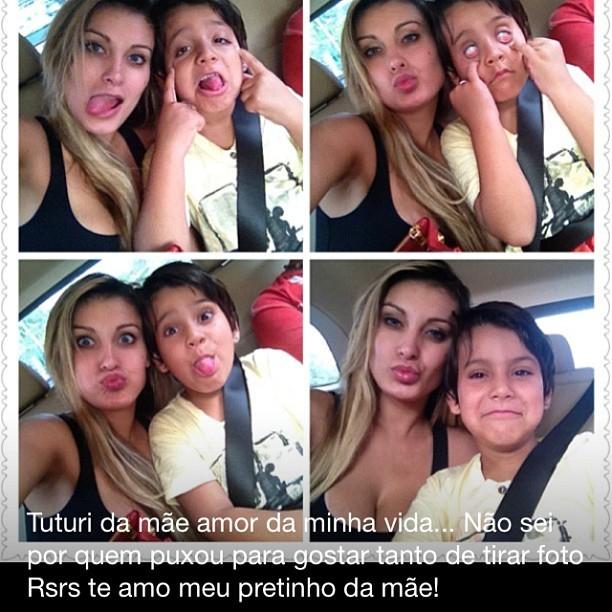 Andressa Urach e o filho (Foto: Reprodução/Instagram)