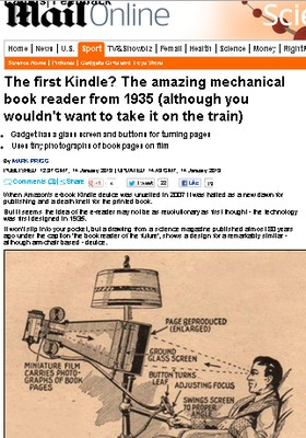 Primeiro Kindle? (Foto: Daily Mail)