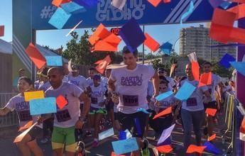 Famosos viram guias e correm com atletas amadores nos Estúdios Globo