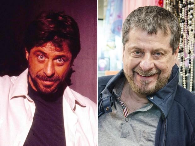 Flávio Galvão em 1989 e 2014 (Foto: CEDOC / Ellen Soares / TV Globo)
