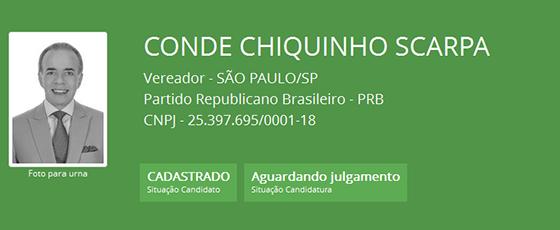 Conde Chiquinho Scarpa (Foto: Reprodução)