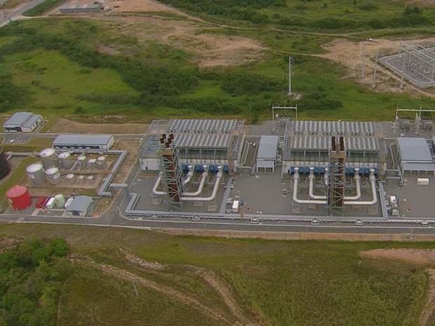 Temelétrica Suape 2, em Pernambuco (Foto: Reprodução / TV Globo)