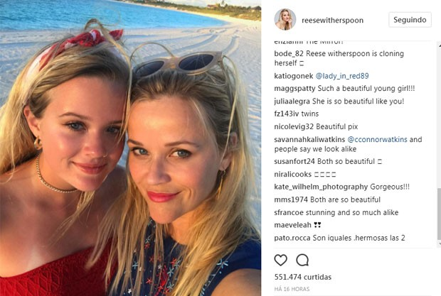 Reese Witherspoon e Ava Phillippe (Foto: Reprodução/Instagram)
