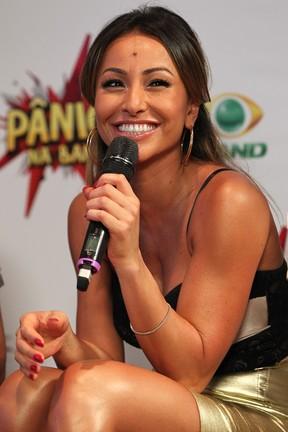 Sabrina Sato na coletiva do programa 'Pânico na TV' (Foto: Manuela Scarpa / Photo Rio News)