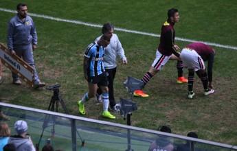 Atacante Everton sofre lesão muscular e para por até três semanas no Grêmio