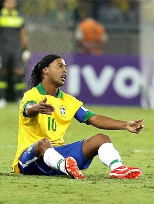 Ronaldinho jogo Brasil x Chile (Foto: William Volcov / Ag. Estado)