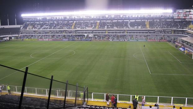 Vila Belmiro, Santos x Corinthians (Foto: Lincoln Chaves)