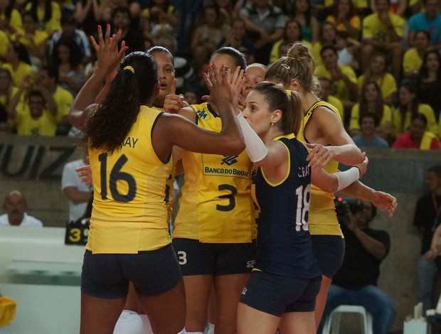 brasil holanda amistoso volei (Foto: Thiago Parmalat/CBV)