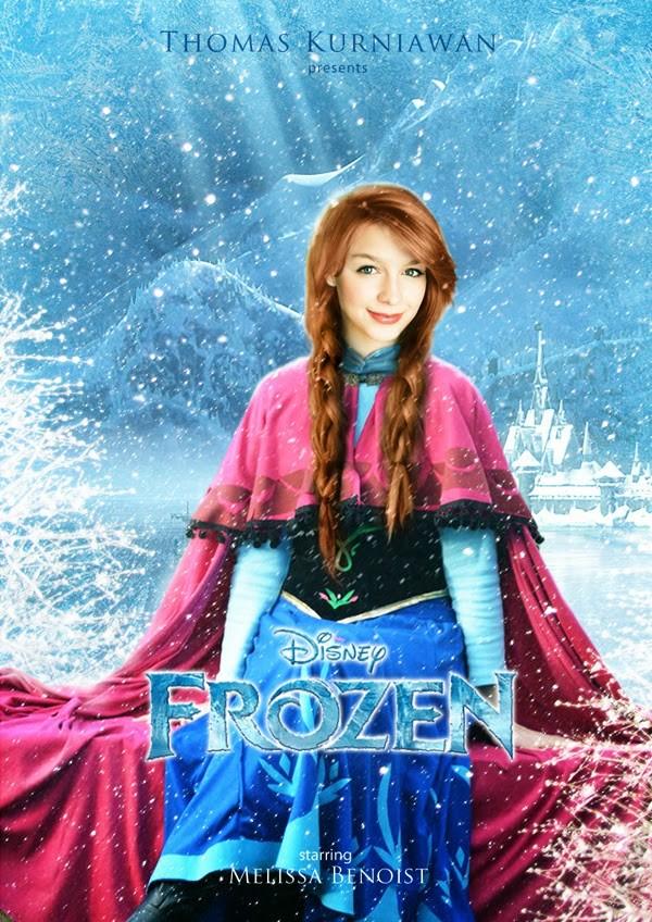 Melissa Benoist como Anna de 'Frozen - Uma Aventura Congelante' (Foto: Thomas Kurniawan)