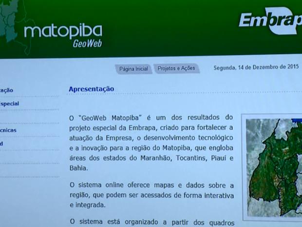 Sistema online apresentado pela Embrapa em Campinas (SP) (Foto: Reprodução/ EPTV)