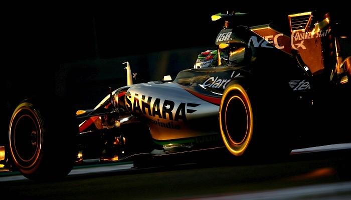 Sergio Pérez Force India Abu Dhabi