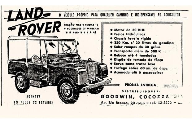 O primeiro anúncio da Land Rover, publicado no Globo em 1949 (Foto: O Globo/Reprodução)