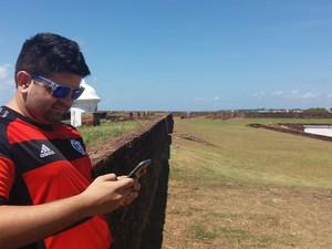 pokemon go, fortaleza de são josé, game, visitas, Macapá, Amapá (Foto: Jéssica Alves/G1)