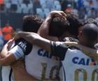 Corinthians vence o Santos por 2 a 0 (Reprodução/TV Globo)