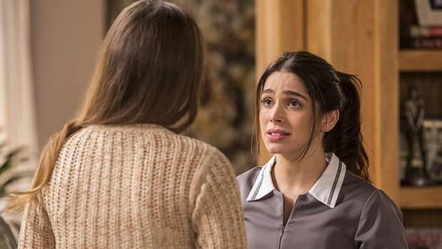 Haja Coração: Shirlei desiste de trabalhar para Felipe (Ellen Soares/Gshow)