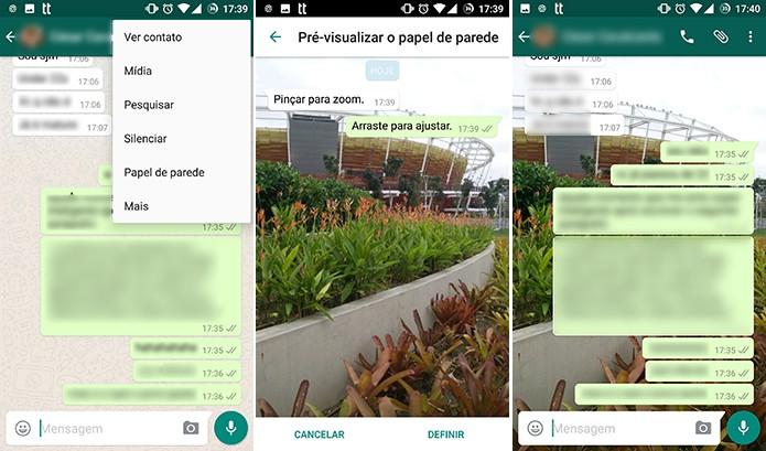 WhatsApp pode ter janelas personalizadas com papel de parede (Foto: Reprodução/Elson de Souza)