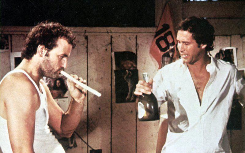 Bill Murray e Chevy Chase no 'Saturday Night Live' nos anos 70 (Foto: Divulgação)