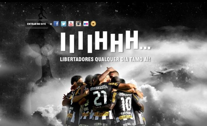 Site Botafogo Libertadores (Foto: Reprodução)