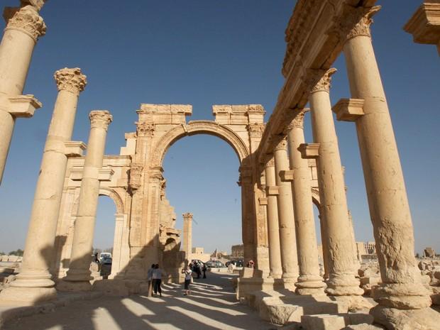Colunas preservadas de Palmira, em foto de 2010 (Foto: Mohamed Azakir/Reuters)