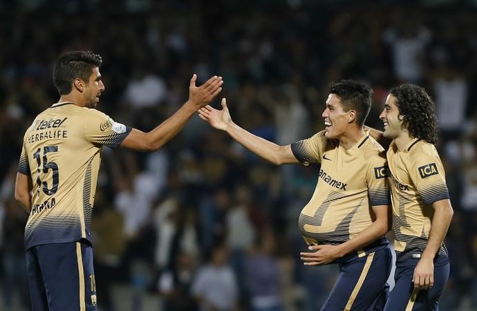 Pumas 4 x 1 Deportivo Táchira Libertadores (Foto: EFE)