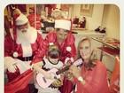 Rafa Justus ganha violão rosa de presente da avó Helô Pinheiro