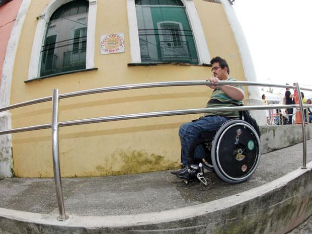 Pelourinho implanta rota acessível para deficientes físicos (Foto: Manu Dias/GOVBA)