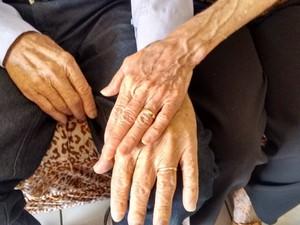 Epifânio e Coracy Viúvos, idosos de 94 e 78 anos se casam após noivado no 1º encontro em Goiás 2 (Foto: Sílvio Túlio/G1)