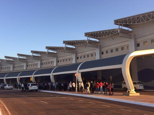 Novo aeroporto de Goiânia é inaugurado com a presença de Dilma Rousseff, em Goiás (Foto: Murillo Velasco/G1)