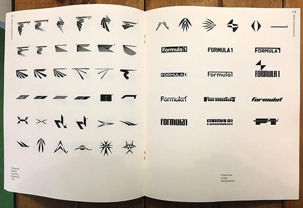 Logotipos em trabalho de progresso, apresentados em um folheto interno (Foto: Divulgação/W+K)