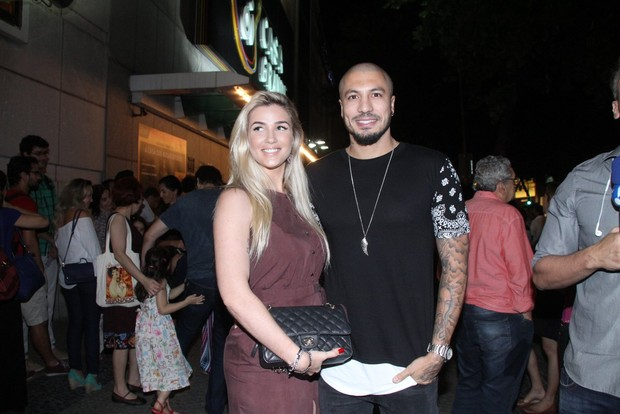 Fernando e Aline (Foto: Thyago Andrade/ EGO)