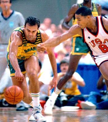 Oscar basquete Brasil x EUA Pan Americano 1987 (Foto: Arquivo AP)