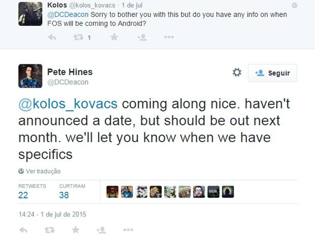 Executivo da Bethesda sugere que 'Fallout Shelter' chega para Android em agosto (Foto: Reprodução/Twitter)
