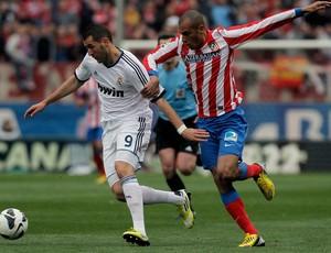 Real Madrid x Atlético de Madri Benzema (Foto: AP)