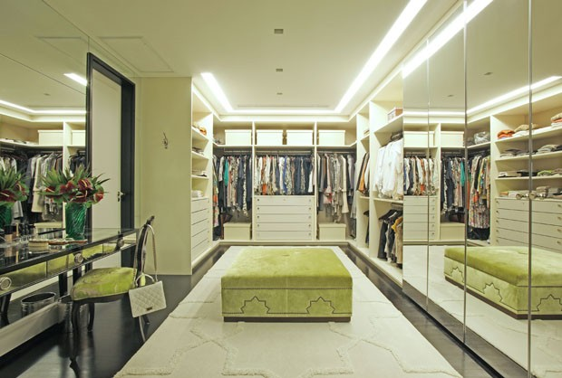 10 closets decorados  e organizados