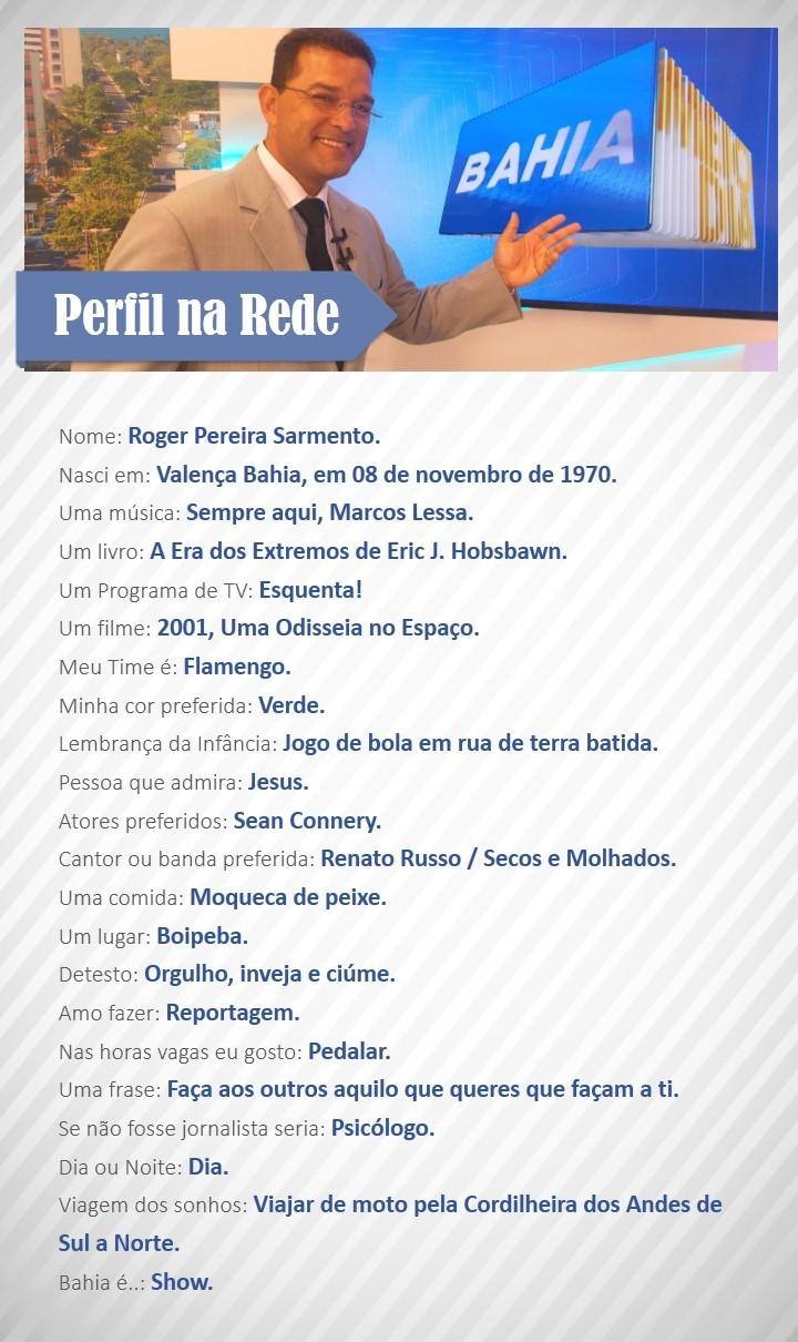 Perfil na Rede com Roger Pereira (Foto: Divulgação / Rede Bahia)