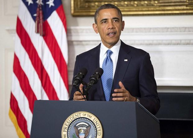 Presidente do EUA, Barack Obama, durante discurso na Casa Branca após o fechamento do acordo entre o Irã e as potências mundiais (Foto: Joshua Roberts/ Reuters)