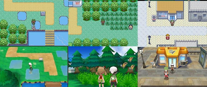 Pokémon Omega Ruby e Alpha Sapphire comparados com suas versões originais. (Foto: Reprodução/ Reddit)