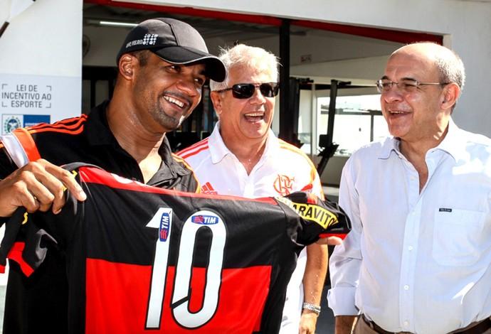 Michel, Biscotto e Eduardo B. de Mello, remo paralímpico (Foto: Divulgação / Site Oficial do Flamengo)
