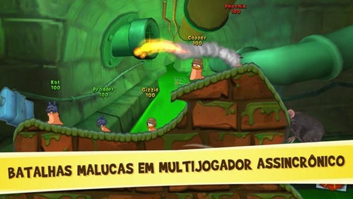 Worms 3 é o jogo da franquia Worms exclusivo para smartphones (Foto: Divulgação)