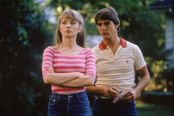 O ator Tom Cruise ao lado da atriz Rebecca De Mornay em Negócio Arriscado (1983) (Foto: Reprodução)