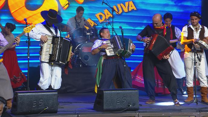 Galpão Crioulo Festa da Uva Grupo Rodeio (Foto: Reprodução/RBS TV)