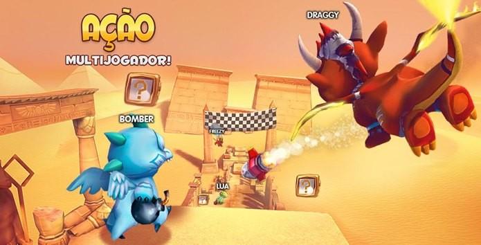 Dragon Land possui corrida multiplayer online (Foto: Divulgação / socialpoint)