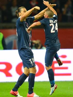 Ibrahimovic Verratti PSG (Foto: AFP)