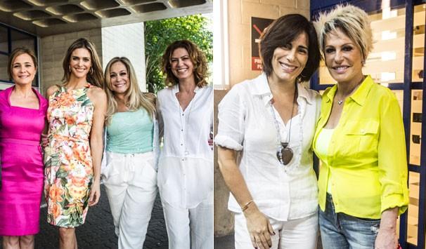 Encontros: Adriana Esteves, Fernanda Lima, Susana Vieira e Patrícia Pillar; Glória Pires e Ana Maria Braga (Foto: Raphael Dias/ TV Globo)
